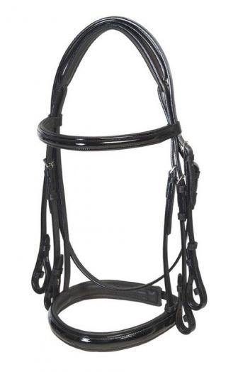 """Оголовье мундштучное """"Horse Comfort"""" черное, с поводьями."""