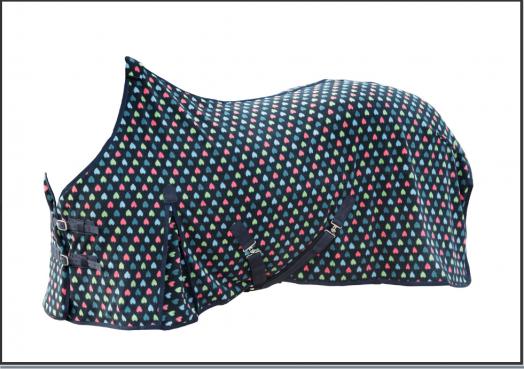 Флисовая попона PARTY HEART, с запахом, застежками под животом и задними ногами. 600 г/м